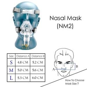 Image 5 - BMC NM2/NM4 האף מסכת CPAP מסכת שינה מסכה עם כיסויי ראש S/M/L שלושה גודל מתאים עבור CPAP מכונת להתחבר צינור והאף