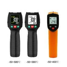 Digital Infrared Thermometer Non Contact Temperature Gun Laser Handheld IR Temp Gun Colorful LCD Display 50 580℃/ 50 400℃ Alarm