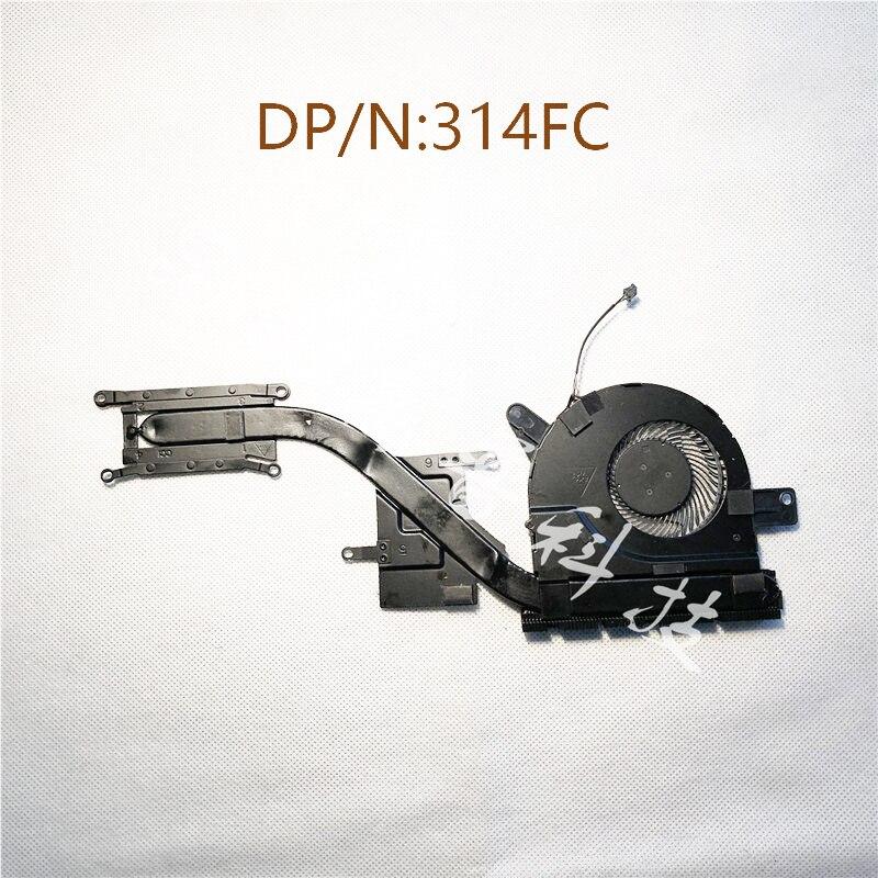 Новый оригинальный радиатор охлаждения вентилятора для DELL latitude E5580 5580 AT259001ZCL 314FC 0314FC