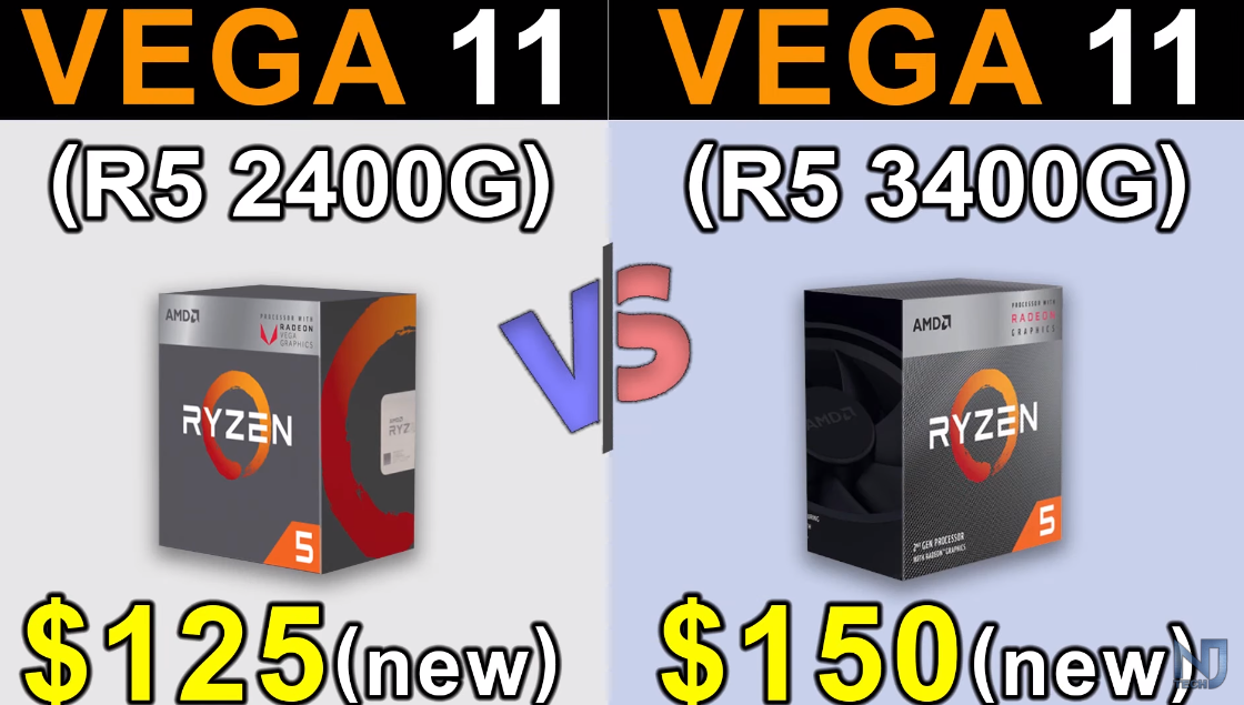 R5 2400G对比R5 3400G 游戏测试