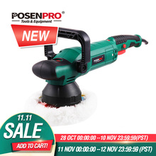 POSENPRO 6 Dual Action Polisher 150mm 900W Variable Speed Electric Polisher Shock and Polishing Machine Cleaner Polishing Pad