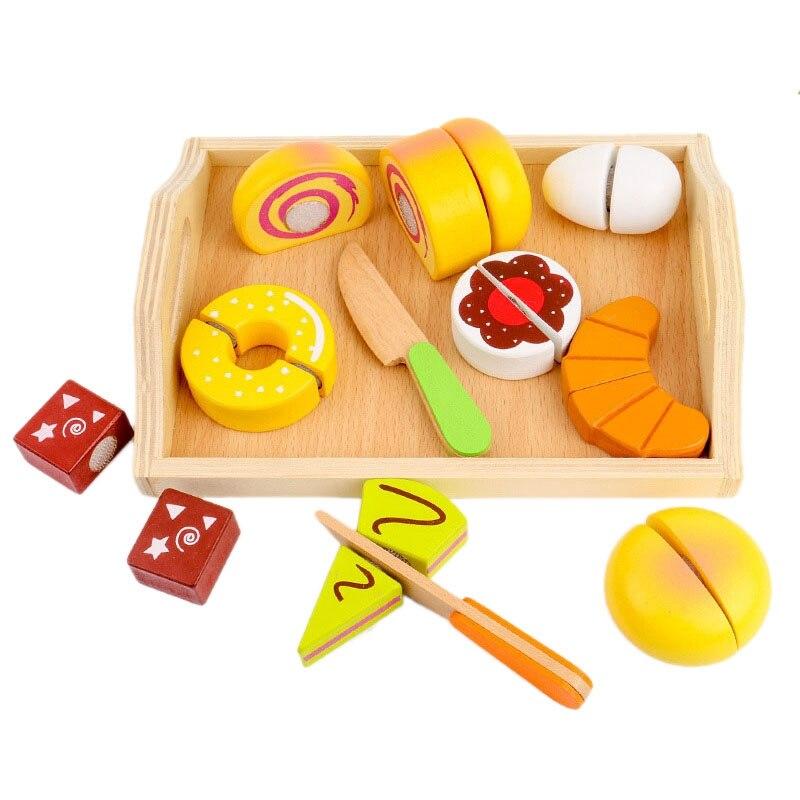 Детские игрушки для ролевых игр, деревянные режущие игрушки для хлеба, игровой набор «Дом» для мальчиков и девочек