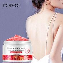 ROREC Fruit Body Scrub Exfoliating Cream Massage Whitening Gel Shrink Pores Mositure Skin Care Tomato Orange Kiwi 3 Scent