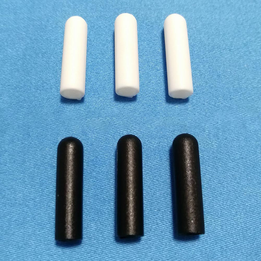 100Pcs/set Cylinder Shape Unisex Shoe Lace Tips Ends White&Black Aglets For Shoe Sneakers Hoodies Rope Replacement Accessory
