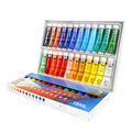 Water-resistant 24 Colors 15ML Tube Acrylic Paint set color Nail glass Art Painting paint for fabric Drawing Tools For Kids DIY