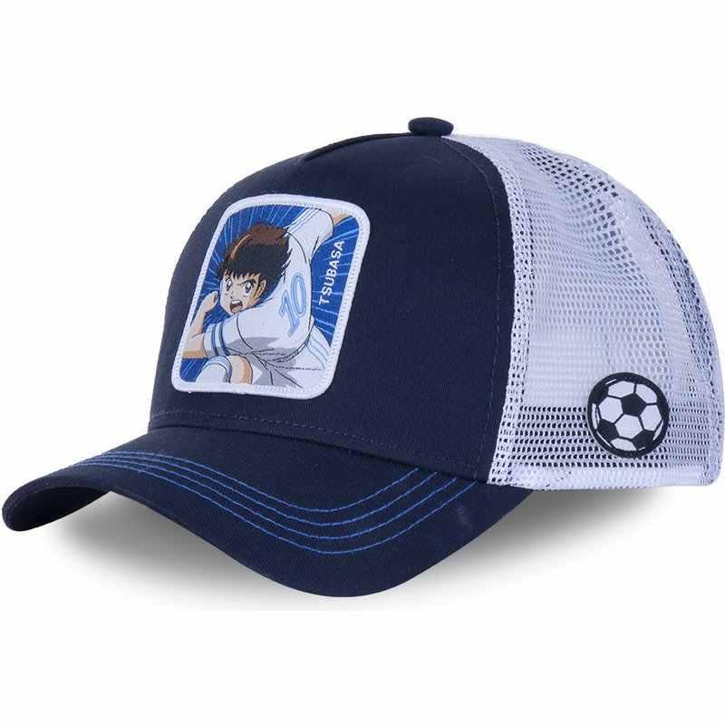 ใหม่ยี่ห้อAnime Dragon Ball Captain Tsubasa Snapbackเบสบอลหมวกผู้ชายผู้หญิงHip Hopพ่อหมวกตาข่ายTruckerหมวกdropshipping