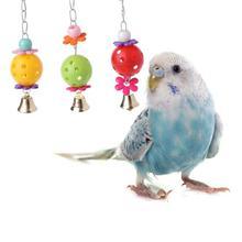 Животное попугай птица укусы восхождения жевательный игрушечный колокольчик качель для птичьей клетки висящий для Cockatiel длиннохвостый попугай Попугайчик ПЭТ