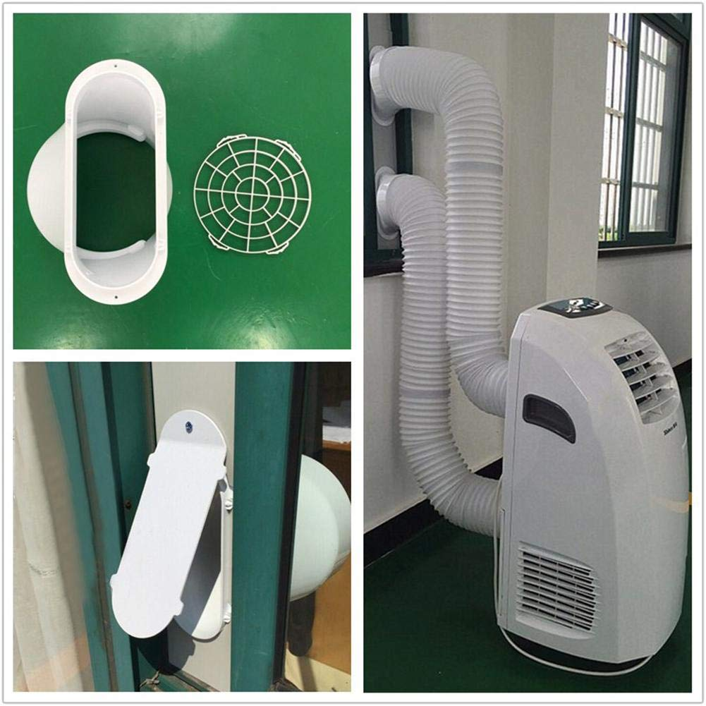 Air Conditioner Exhaust Hose Extension/Window Adapter/Long/Counterclockwise - Portable Air Conditioner Exhaust Pi