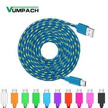Câble Micro USB tressé en Nylon Vumpach câble de chargeur USB de synchronisation de données 1m/2m/3m pour Samsung HTC LG huawei xiaomi câbles de téléphone Android