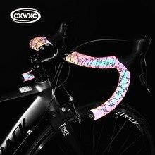 Anti Slip Road Fahrrad Lenker Licht Ändern Reflektierende Bike Bar Band Racing Bike Band Wrap Pu Leder Radfahren Lenker bänder
