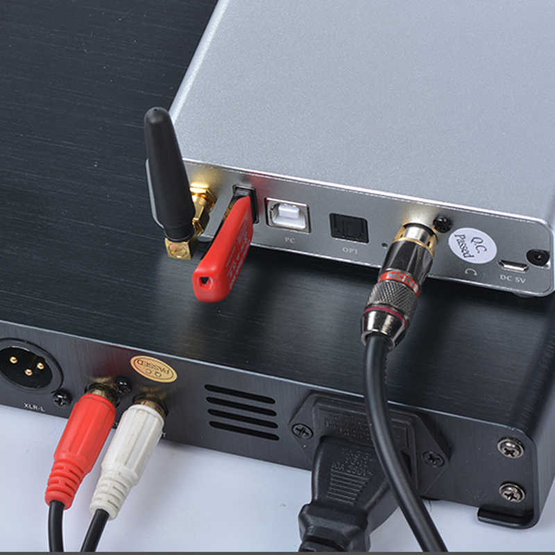 Bluetooth 5.0 HIFI cyfrowy zasilacz u-disk PC odtwarzacz DAC wzmacniacz Audio OPT COA wyjście bluetooth używane do wzmacniacza