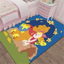 Cartoon Winnie the Pooh Door Mat Kids Boys Girls Game Mat Bedroom Kitchen Carpet Indoor Bathroom Mat  birthday present washable