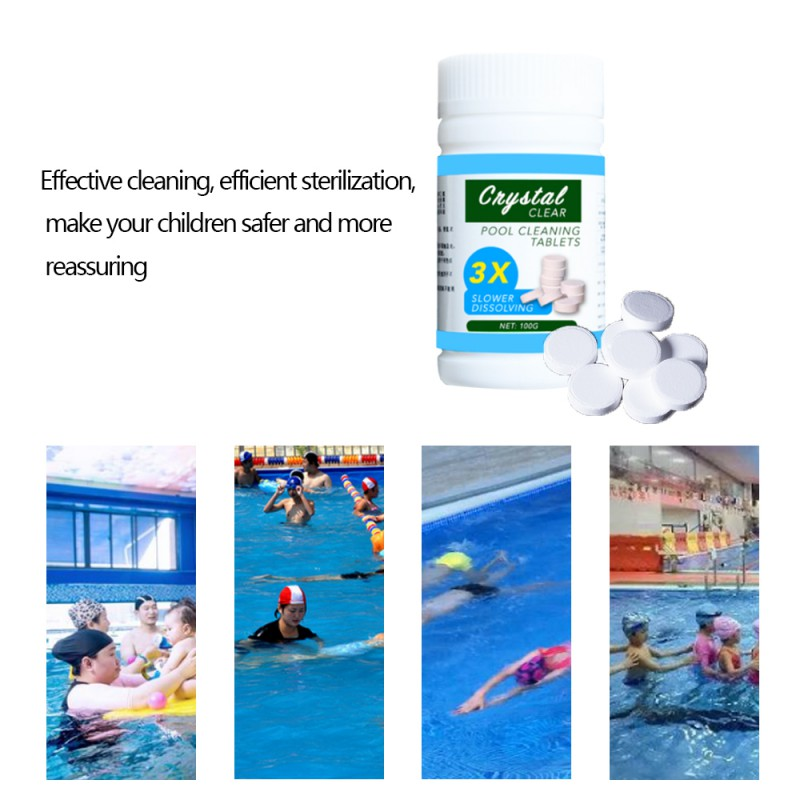 Hot 100pcs Pool Cleaning Effervescent Chlorine Tablet Cage Disonfectant Swimming Pool Clarifier Chemical Floater Dispenser in Cleaning Chemicals Water Testing Products from Home Garden