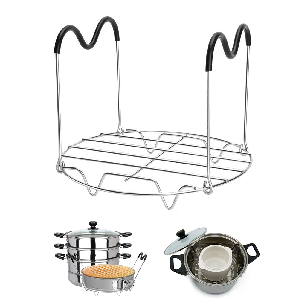 High-Profile Pot Steamer Kitchen Cookware Stainless Steel Bowl Clip Egg Tool Cooking Ware Steaming Rack Stand Kitchen Set 1/2pcs