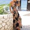 NEDEINS Women Summer Beach Dress Print Neckline Sleeveless Elegant Dress Party Sexy Loose Fashion Stitching Casual Plus Size 3
