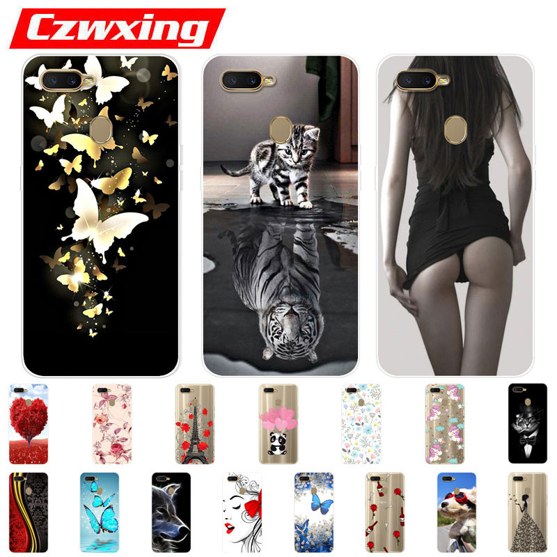 OPPO AX7 Case OPPO A7 Case Silicone TPU Cover Cute Phone Case On For OPPO AX7 AX 7 CPH1903 CPH 1903 OPPOA7 OPPOAX7 Case Soft image