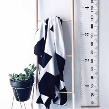 Wooden Kids Growth Ruler Chart Children Room Decor Wall Hanging Height Measure