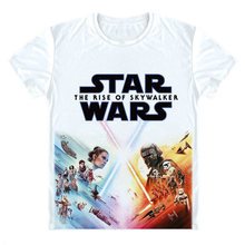 Star Wars la montée de Skywalker T-shirt Star Wars épisode IX T-shirt Star Wars 9 Rey Kylo Ren T-shirt impression 3D T-shirt court(China)