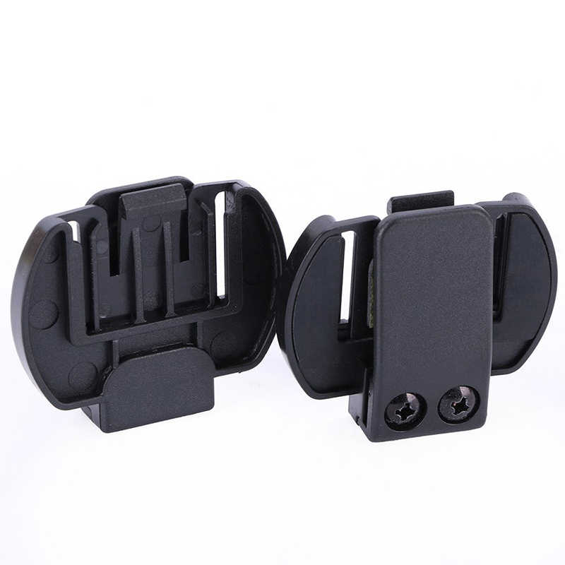 2 Pcs Vnetphone V6 V4 V2-500C Intercom Zubehör, Helm Intercom Clip-Montage Halterung, Motorrad BT Bluetooth Intercom Headse