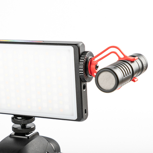 Image 3 - Dimmable RGB LED Video Light Extend Cold Shoe for Microphone DSLR Light Photography Lighting