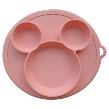 Детская силиконовая тарелка, Детская миска и тарелка силиконовая для кормления малышей, миска для ребенка, посуда из силикагеля, детская по...