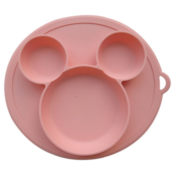 Baby Silicone Plate Kids Bowl Plates Feeding Silica Gel Dishes Tableware - discount item  4% OFF Feeding