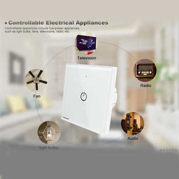 ZigBee switch smart light control Wireless wall remote smart home led ON/OFF work with amazon echo plus gateway Free shipping