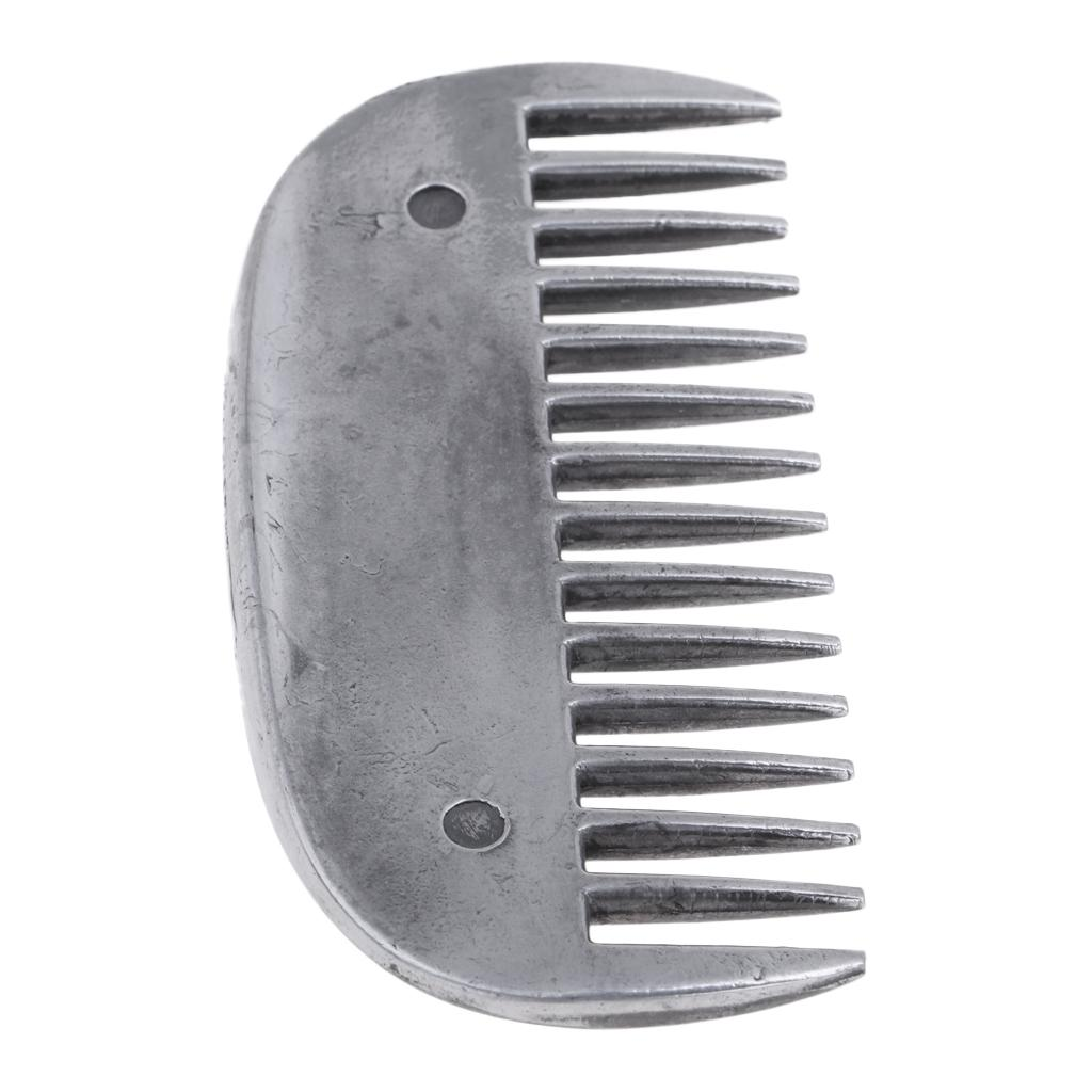 2 Pack Stainless Steel Horse Curry Comb, Metal Brush For Equestrian Grooming Care Tool, Rust Proof, Durable