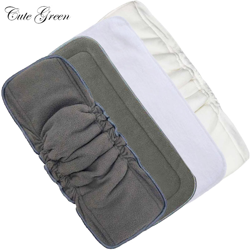 10pcs Cloth Diaper Inserts Nappy Liner Washable Microfibre Hemp Bamboo Charcoal Boosters Mat Pocket Baby Reusable Diaper Insert