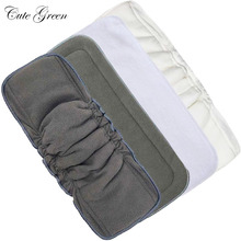 10pcs Cloth Diaper Inserts Nappy Liner Washable Microfibre Hemp Bamboo Charcoal Boosters Mat Pocket Baby Reusable Diaper Insert