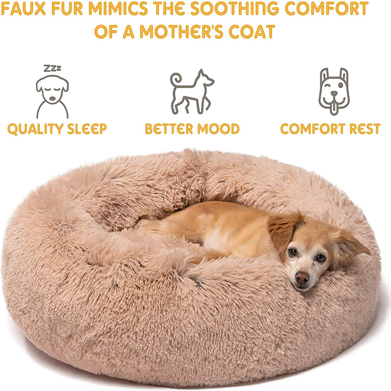 Soft  Puppy Kennel Warm Pet Mat Portable Cat Sup Pet Bed Round Washable Long Plush Dog Kennel Cat House Plush Mats Sofa For Dog Houses, Kennels & Pens    - AliExpress