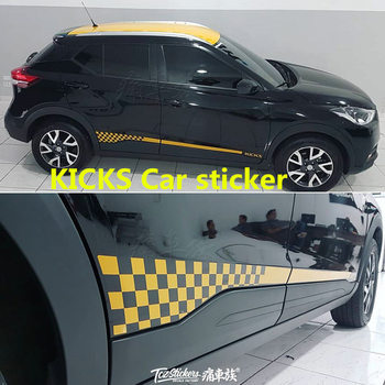 For Nissan KICKS car stickers pull flower color strip KICKS body decoration modification