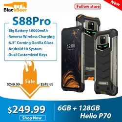 Смартфон DOOGEE S88 Pro, 6,3 дюйма, прочный мобильный телефон IP68/IP69K, Восьмиядерный Helio P70, 6 ГБ 128 Гб ПЗУ, сотовый телефон Android 10,0, 10000 мАч
