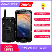 CONQUEST S8 IP68 Waterproof  Rugged Smartphone 6GB 128GB Android 7.1 Mobile Phone NFC/IR/SOS/OTG/FM/ Walkie Talkie Cell Phone