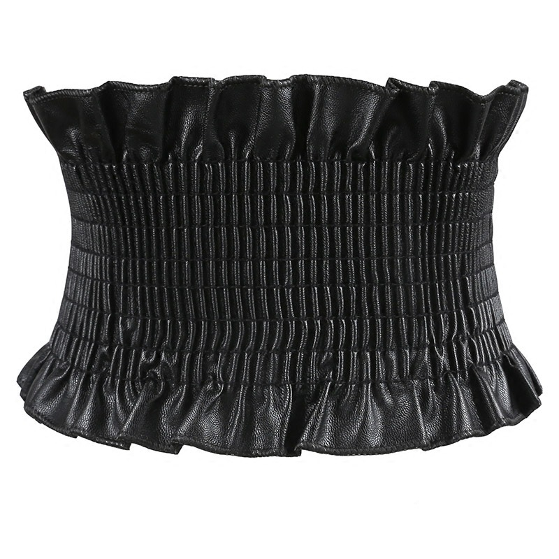 New Fashion Women Elastic Ultra Wide Belt Wide Stretch Waist Belt Corset Cummerbunds Dress Adornment For Women Strap Waistband
