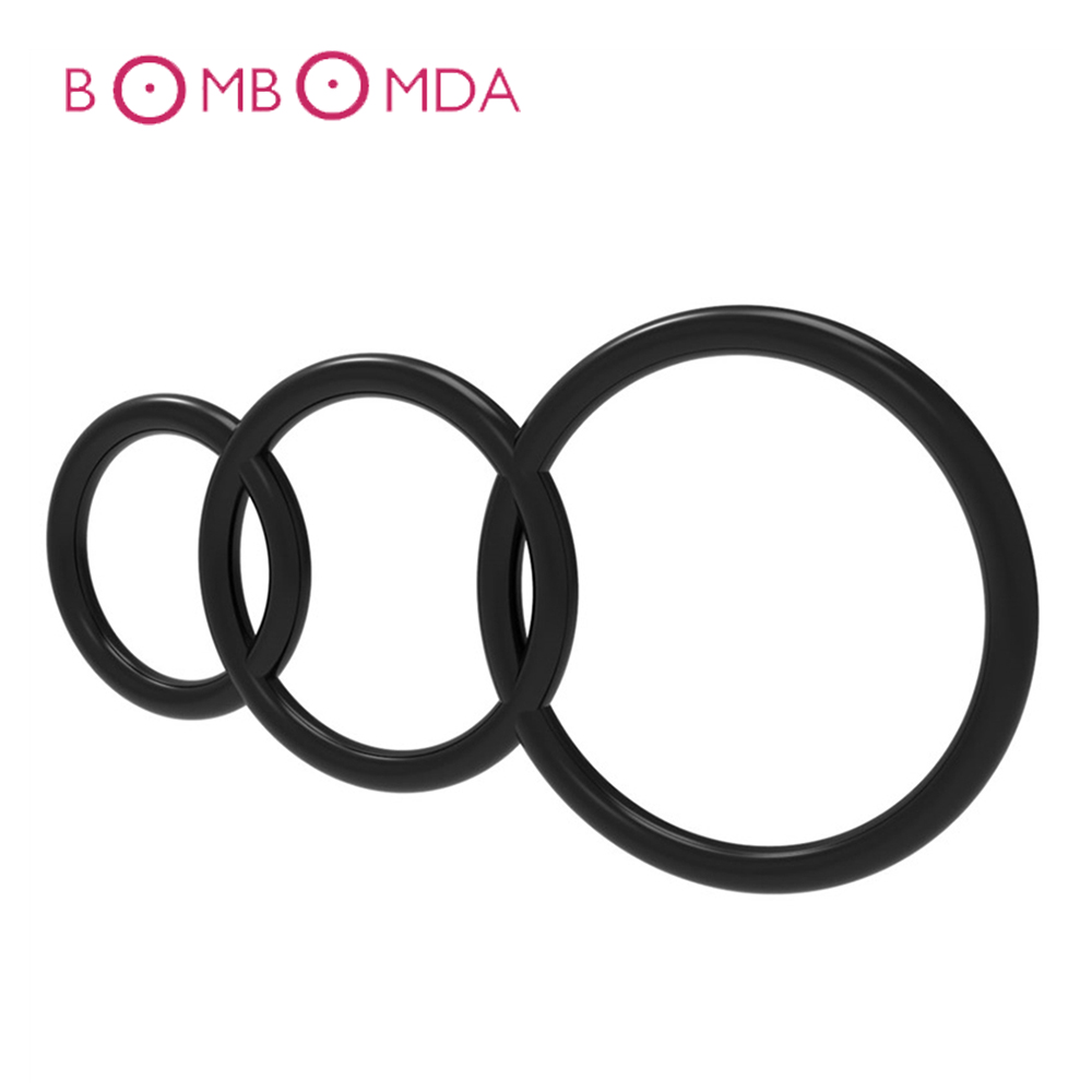 3PCS Men Cock Ring Super Stretchy And Strong Cock Rings Adult Products Men Penis Ring Sextoys Extended Ejaculation Time Sex Toys