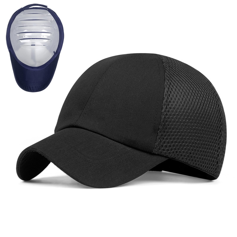 New Work Safety Protective Bump Cap Hard Inner Shell Mesh Baseball Hat Style For Work Factory Shop Carrying Head Protection