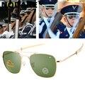 Солнцезащитные очки-авиаторы для мужчин, 2020, высококачественные фирменные американские армейские военные оптические очки, солнцезащитные ...