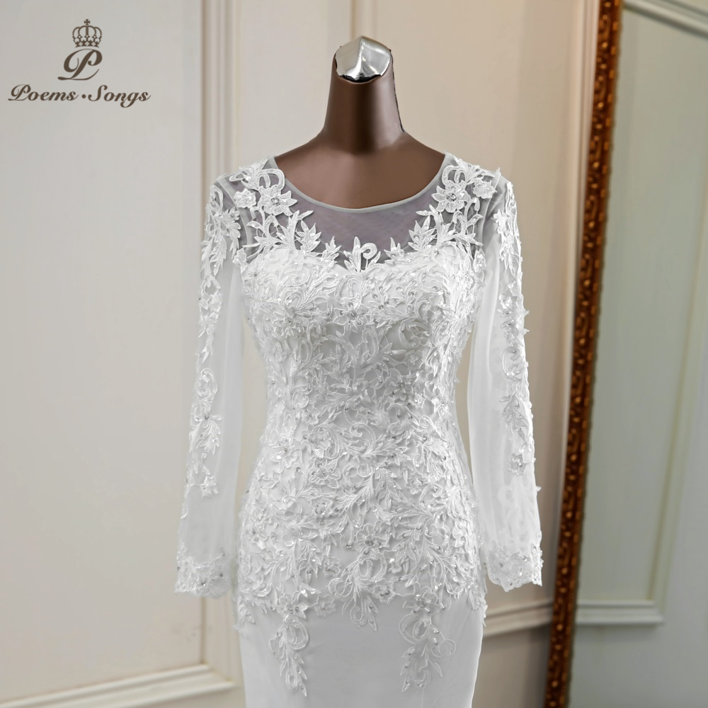 Mermaid Wedding Dresses 2020 Long Sleeve Mariee Bride Dress Wedding Gowns Vestido De Noiva Sereia
