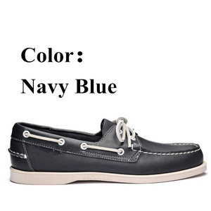 Image 4 - Men Genuine Leather Driving Shoes,New Fashion Docksides Classic Boat Shoe,Brand Design Flats Loafers For Men Women 2019A006