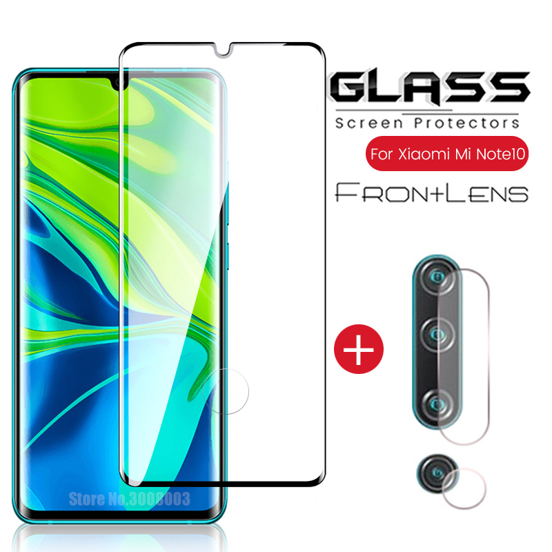 2-in-<font><b>1</b></font> camera glass for xiaomi mi note <font><b>10</b></font> pro glasses protective glass on xiomi mi note10pro note10 safety amror protection film image