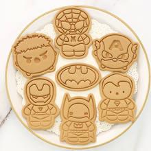 Disney marvel супергероев печенье режущие иструменты 3d нажатия