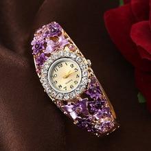 Small Clock Wristwatches Bracelet Rhinestone Dial Top-Brand Dress Ladies Luxury Zegarek