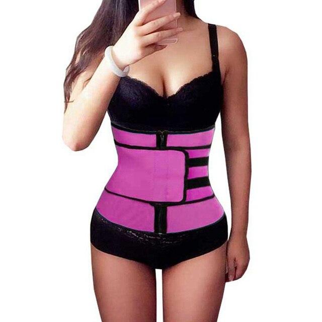 Hot Fitness Women Waist Trainer Sweat Belt Waist Trimmer Slimming Tummy Control Girdle Weight loss Support Belt For Men Women 1
