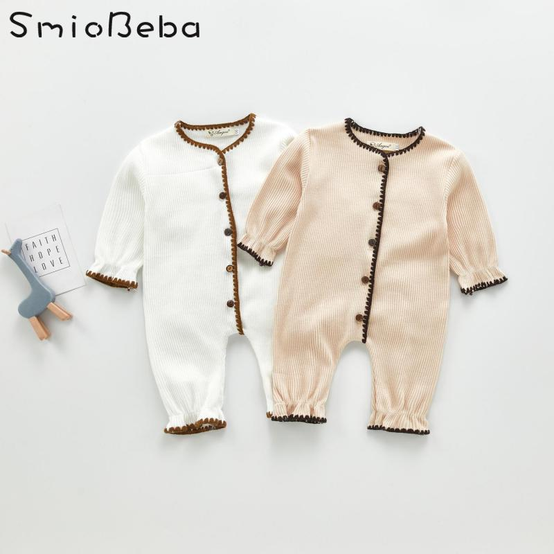 Spring 2020 South Korean Baby Knitted Rompers Children's Lovely And Beautiful Knitting One-piece Hardcover For Boys And Girls