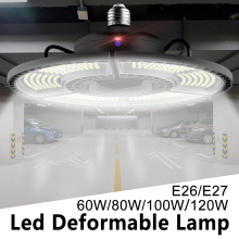 E27 Led Smart Bulb Super Bright Parking Deformable Spot Work Lights SMD 2835 Industrial Warehouse AC85-265V LED Waterproof Light
