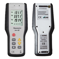 With Probe 4 Channel Professional Industrial Digital Handheld Tools Portable K Type Thermometer Tester Thermocouple Sensor