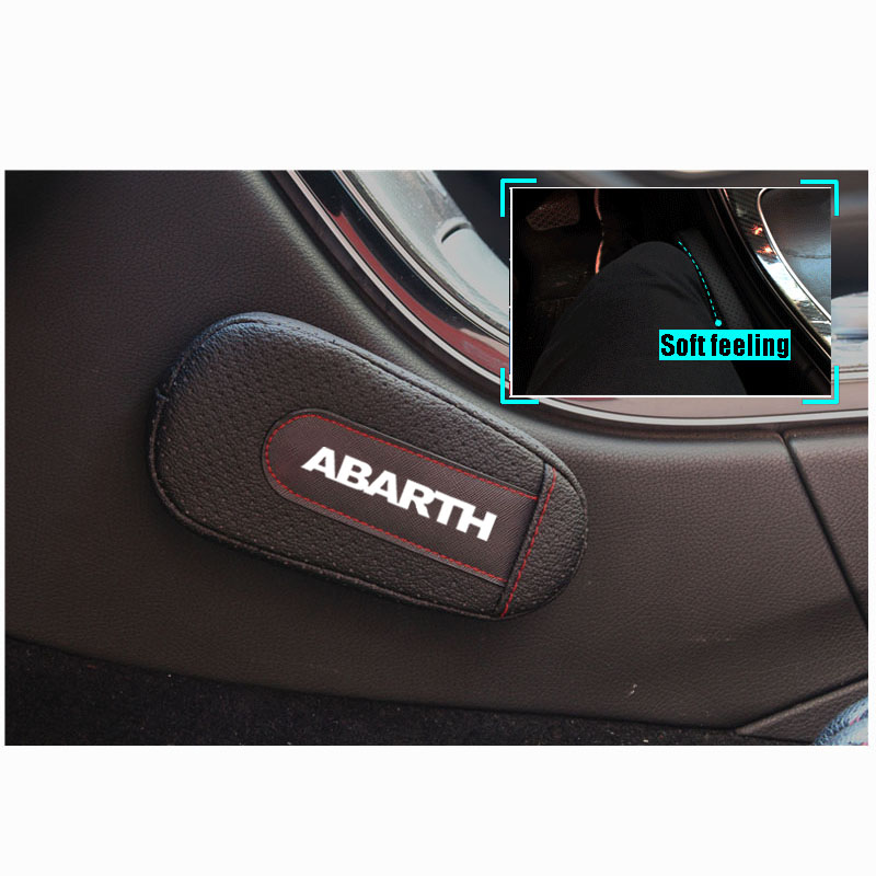 For Fiat Abarth 500 Punto 1pc Stylish And Comfortable Leg Cushion Knee Pad Armrest Pad Interior Car Accessories