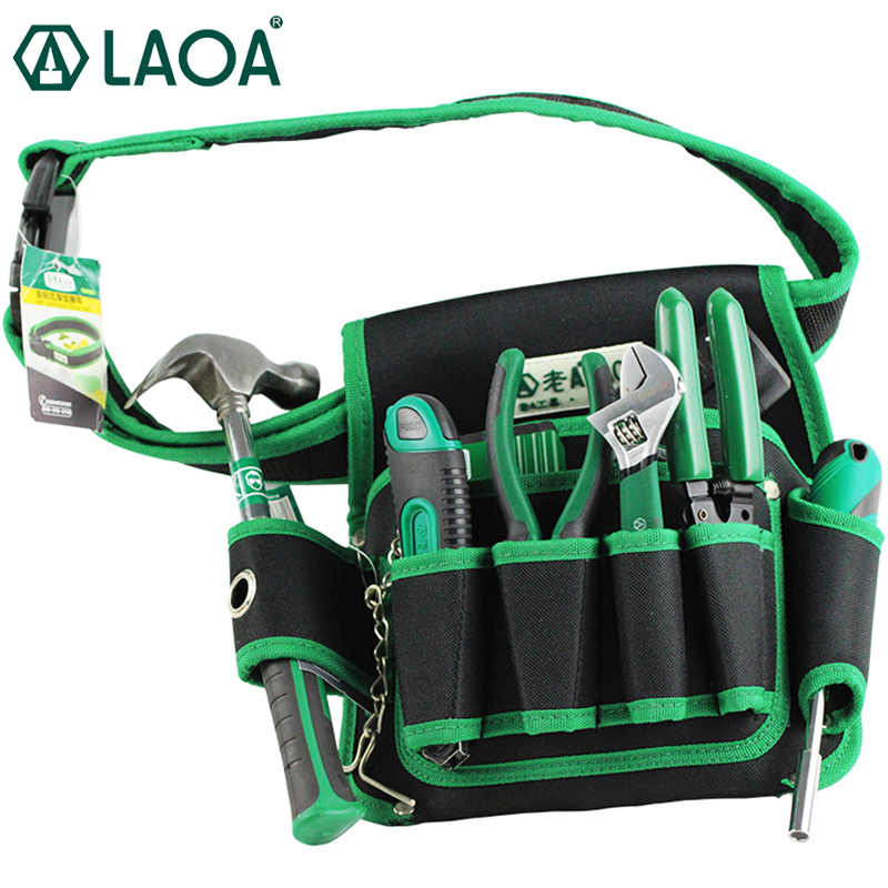 Ultimate SaleLAOA Multi-fonction Telecommunications toolkit Tools Bag 600D Water-proof Oxford tools Bags Size 19cm*29cm