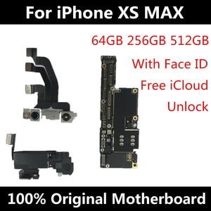 Image 2 - لوحة أم لهاتف iPhone XS MAX الأصلي غير مقفلة لهاتف iPhone XS MAX لوحة إلكترونية مزودة بـ/بدون وجه لوحة رئيسية منطقية مزودة برقائق